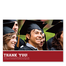 Treasure Harvard Red Graduation Thank You Cards