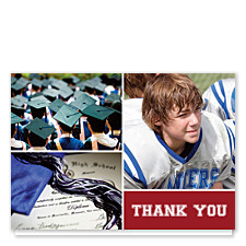 Prosperity Harvard Red Graduation Thank You Photo Cards