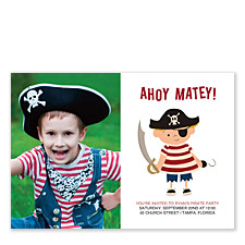Ahoy Matey Birthday Party Invitations