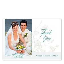 Silver Bells Thank You Photo Cards