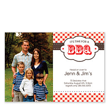 BBQ Time Adult Party Invitations