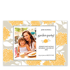 Floral Garden Party Birthday Invitations