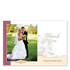 Floral Elegance Thank You Photo Cards