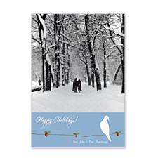 Dove on a Branch Holiday Photo Cards