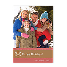 Snowflower Holiday Photo Cards
