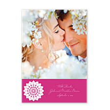 Fidelity in Fuchsia Photo Wedding Thank You Cards