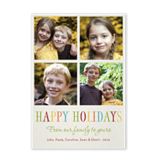 From Us to You Holiday Photo Cards