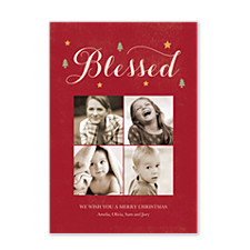 Blessed Day Christmas Photo Cards