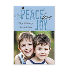 Peace and Joy Holiday Photo Cards