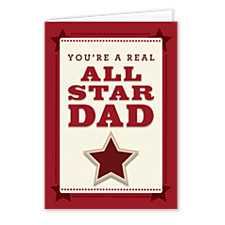 All Star Dad Father's Day Cards