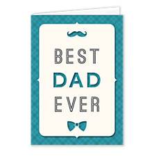 Blue Plaid Dad Father's Day Cards