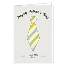Striped Tie Father's Day Cards