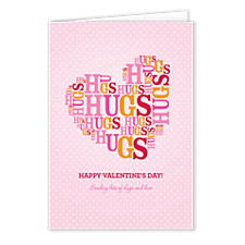 Lots of Hugs Valentines Day Cards