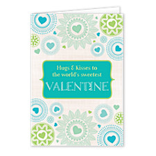 Feathered Hearts Valentines Day Cards