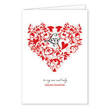 Filigree Heart Valentines Day Cards
