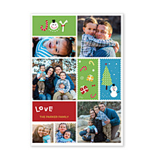 Holiday Stamps Photo Christmas Cards