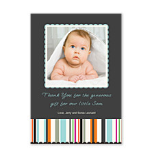 Reflections Blue Photo Thank You Cards