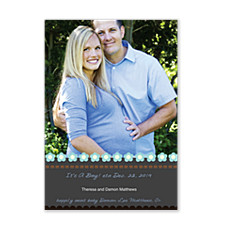 Inspire Blue Photo Christmas Cards