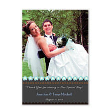 Inspire Blue Wedding Thank You Photo Cards