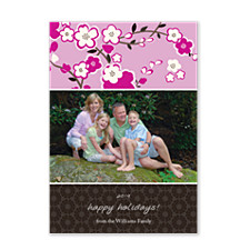Optimism Pink Holiday Photo Cards