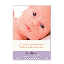 Amethyst Birth Announcement Photo Cards