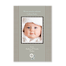 Aura Quartz Baby Birth Announcement Photo Cards