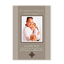 Aura Brown Party Photo Invitation Cards