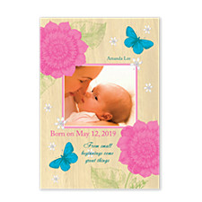 Tradition Photo Birth Announcement Cards