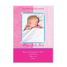 Classic Baby Birth Announcement Photo Cards