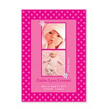 Delightful Photo Birth Announcement Photo Cards