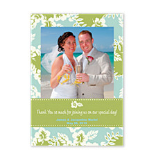Ocean Breeze Photo Thank You Cards