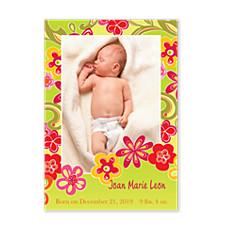 Flower Power Baby Birth Announcement Photo Cards