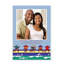 Deck The Deck Chair Christmas Photo Cards