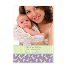 A Gift from Above Baby Birth Announcement Cards