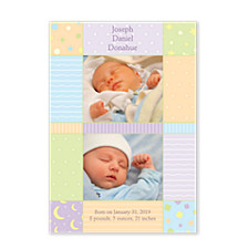 The Moon & The Stars Baby Birth Announcement Photo Cards