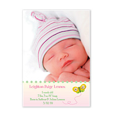 Flight of Fancy Photo Birth Announcement Cards