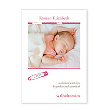 Dreamy Tyrian Photo Birth Announcement Cards