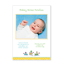 Sailing Ships Photo Birth Announcement Cards