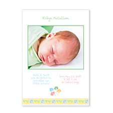Posies Photo Birth Announcement Cards