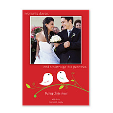 Two Turtle Doves Christmas Photo Cards