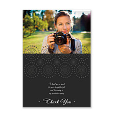 Spinning Wheel Graduation Thank You Photo Cards