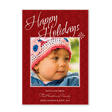 Sparkling Stars Holiday Photo Cards
