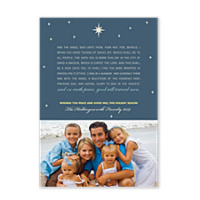 Peace and Good Will Christmas Photo Cards