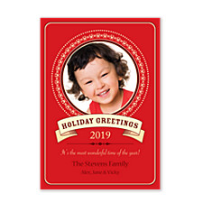 Red Holiday Photo Cards