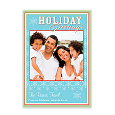 Fernlike Flakes Photo Christmas Cards