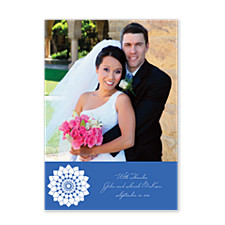 Fidelity in Blue Wedding Thank You Cards