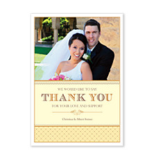 Truly Thankful Wedding Thank You Photo Cards
