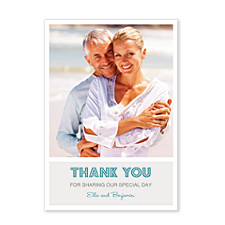 Big Thanks Photo Wedding Thank You Cards