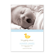 Ducky Vertical Birth Announcement Cards