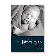 Sugar Plum Birth Announcement Cards